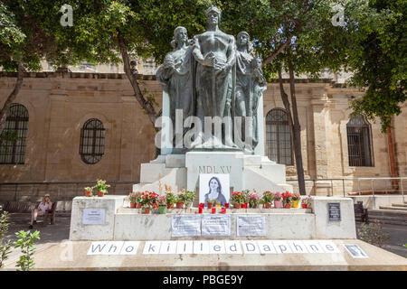 Great Siege Monument, Valletta - Stock Image