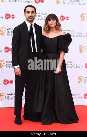 LONDON, UK. May 12, 2019: Jamie & Natasia Demetriou arriving for the BAFTA TV Awards 2019 at the Royal Festival Hall, London. Picture: Steve Vas/Featureflash - Stock Image
