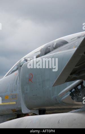 McDonnell Douglas F-4F Phantom II, Brno-Turany airport CIAF airshow 2007, Richthofen Geschwader Luftwaffe - Stock Image