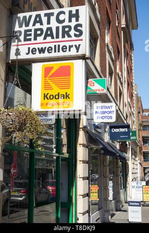 Kodak signage outside a shop in central London, UK - Stock Image
