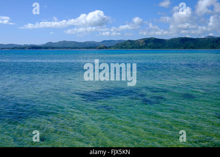 Idyllic View Of Seascape Against Sky - Stock Image