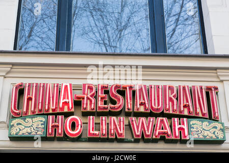 Germany, Berlin. Neon sign for Chinese restaurant. Credit as: Wendy Kaveney / Jaynes Gallery / DanitaDelimont.com - Stock Image