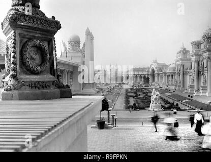 View of the grounds of the 1893 Columbian Exhibition in Chicago. - Stock Image