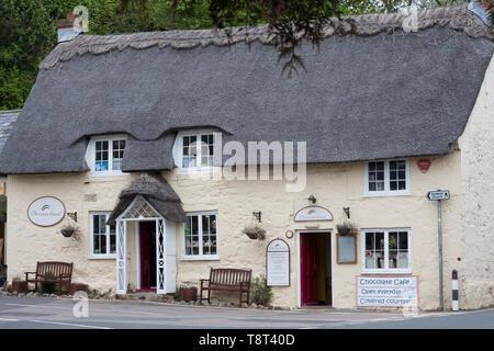 Chocolate Island shop and cafe, Godshill, Isle of Wight - Stock Image