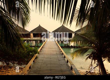 Holiday Villas, Rasdhoo Atoll, the Maldives Asia - Stock Image