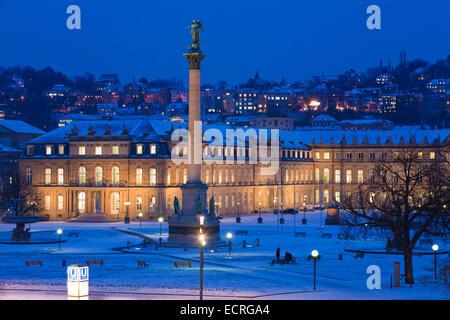 NEW CASTLE, SCHLOSSPLATZ, STUTTGART, BADEN-WURTTEMBERG, GERMANY - Stock Image