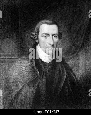 Patrick Henry (1736-1799) on engraving from 1835. American attorney, planter and politician. - Stock Image