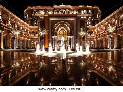 Emirates Palace, Abu Dhabi - Stock Image