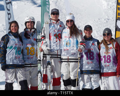 Quebec, Canada. , . World moguls champion, Mikael Kingsbury wins the Canadian Moguls Championship Series presented by Toyota at Val Saint-Come Credit: richard prudhomme/Alamy Live News - Stock Image