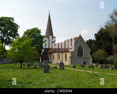 The Anglican church of St Giles, Newington, Oxfordshire. - Stock Image