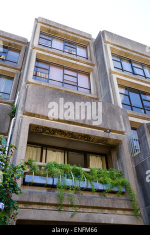 Concrete apartment block in Brutalist style. Brutalist architecture. Brutalism. Sirius Building, Millers Point, - Stock Image