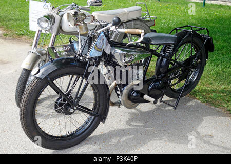 Old-timer motorbike Zündap from 1939 manufactured by Zündapp Werke GmbH in Nuremberg, Germany - Stock Image