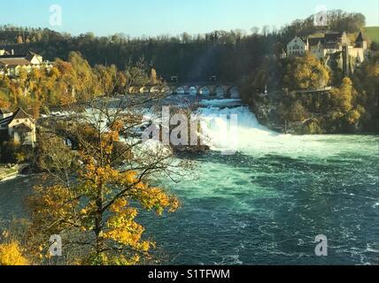 Rhine falls in Switzerland - Stock Image