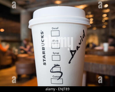 Starbucks coffee cup - Stock Image