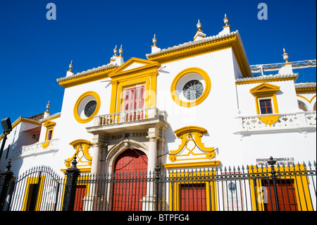 Plaza de Toros, Bullfighting ring, Seville, Andalucia, Spain - Stock Image