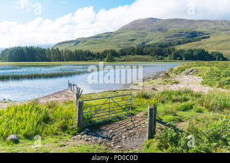 Loch Cill Chriosd at the foot of the Cuillin Hills, Isle of Skye, Scotland - Stock Image