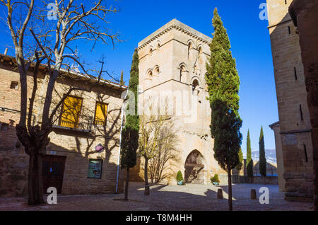 Laguardia, Álava province, Basque Country, Spain : Torre Abacial or Abbey tower of the Church of Santa María de los Reyes in the historic town of Lagu - Stock Image
