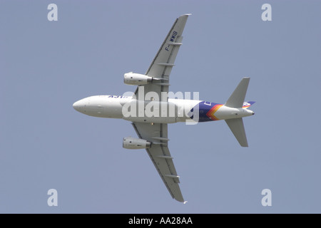 An Airbus A 318 at Le Bourget Paris June 2003 - Stock Image