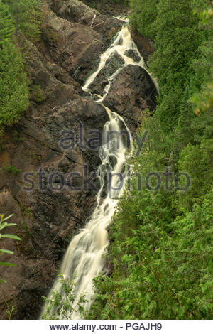 Big Manitou Falls, Black River, Pattison State Park, Wisconsin - Stock Image