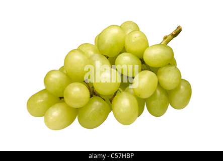 A bunch of green grapes - Stock Image