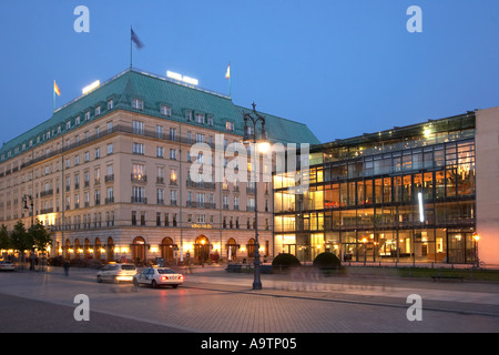 Berlin Paris square Hotel Adlon academy of art architect Guenter Behnisch who built the olympüic stadium in munich - Stock Image