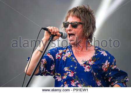 Aix-les-Bains, France, 13 July 2018. The Temperance Movement performing live at Musilac festival in Aix-les-Bains (France) - 13 July 2018 Credit: Olivier Parent/Alamy Live News - Stock Image