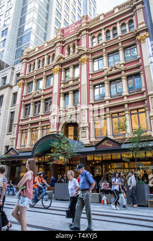 Strand Arcade retail plaza in Sydney with victorian facade and architecture,Sydney,NSW,Australia - Stock Image