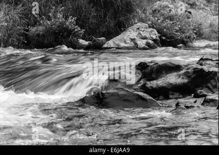 Rapids in the river at Mitake on the outskirts of Tokyo - Stock Image