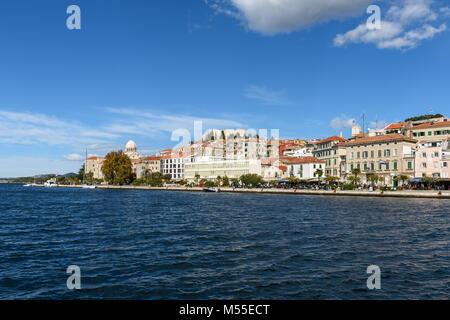 Old town Sibenik Skyline, Croatia - Stock Image