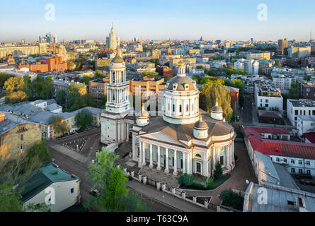 Aerial view of Temple of St. Martin the Confessor, Moscow, Russia - Stock Image