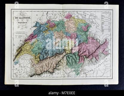 1858 Delamarche Map - Europe - Stock Image
