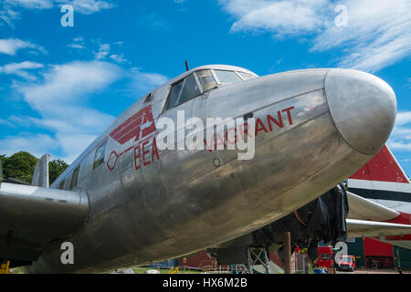 WEYBRIDGE, SURREY, UK - AUGUST 9, 2015:  Vickers 498 Viking 1A named 'Vagrant' on display at Brooklands - Stock Image