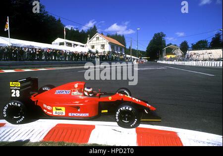1991 Jean Alesi French Ferrari 643 Spa Belgian GP dnf - Stock Image