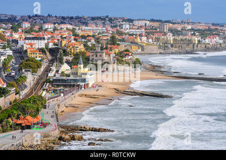 Estoril and Cascais seafront Portugal - Stock Image