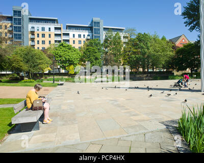Hull City Centre UK - Stock Image