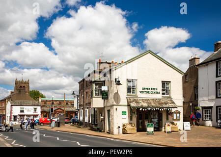 UK, Cumbria, Eden Valley, Kirkby Stephen, Market Street, Upper Eden Visitor Centre - Stock Image