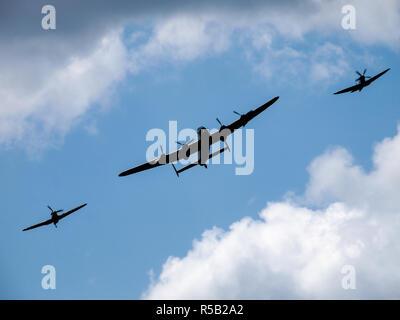 Battle of Britain Squadron flypast 2006 - Stock Image