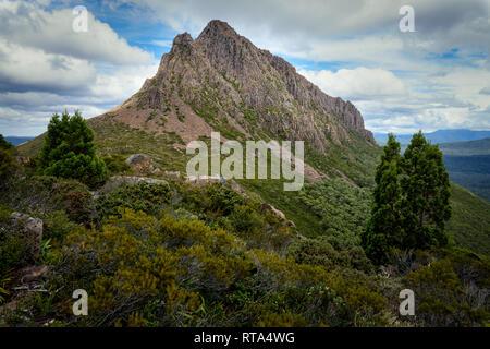 Mount Gould in Cradle Mountain–Lake St Clair National Park, Tasmania - Stock Image