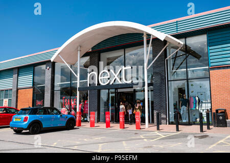 Next store, UK. - Stock Image