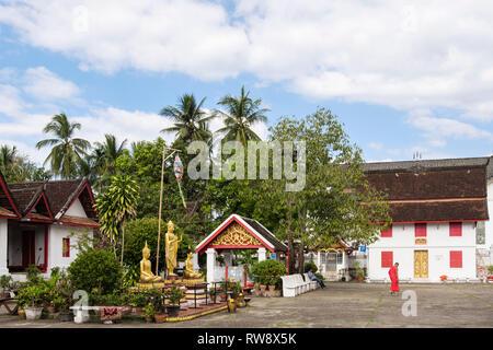 Wat Mai Suwannaphumaham temple complex. Luang Prabang, Louangphabang province, Laos, southeast Asia - Stock Image