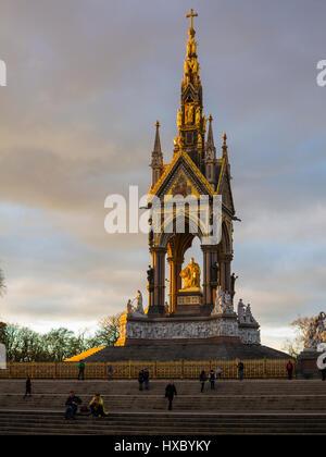 The Albert Memorial in Kensington Gardens - Stock Image