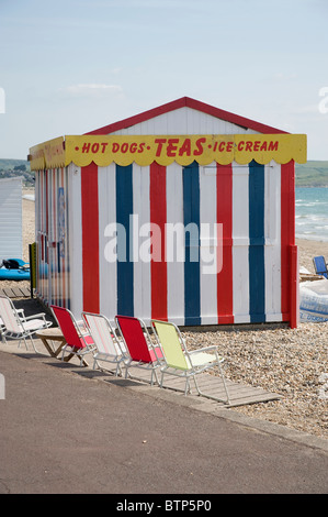 Beach Kiosk, Dorset, UK - Stock Image