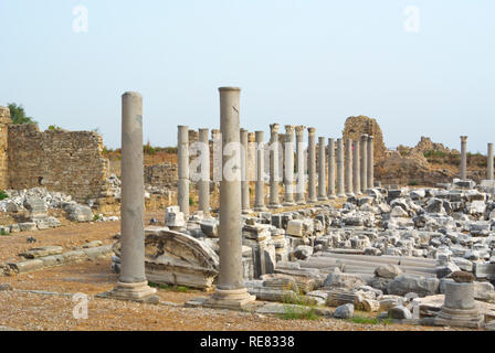 Side Antik Kenti, ancient city of Side, between old town and bus station, Side, Turkey, Eurasia - Stock Image