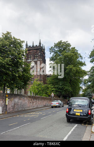 St Peters church, Woolton, Liverpool. The church i the place where Beatles Paul McCartney and John Lennon first met at a Christmas fete in 1959. - Stock Image