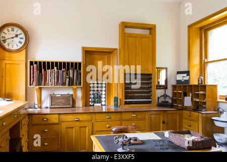 Station Masters Office at Beamish Living Open Air Museum - Stock Image