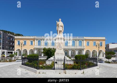 Solomou Square at Zakynthos island Greece - Stock Image