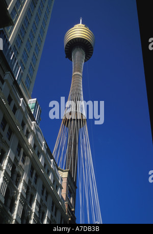 Australia New South Wales Sydney Centre Point AMP Tower - Stock Image
