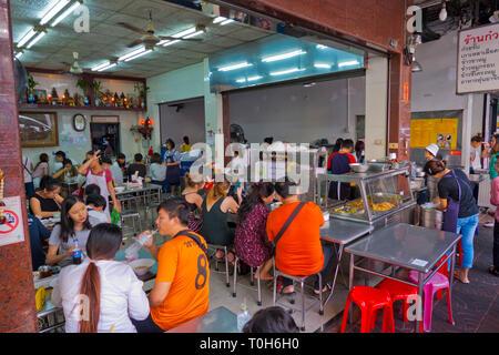 Nai Ek Roll Noodle, Yaowarat Road,  Chinatown, Bangkok, Thailand - Stock Image