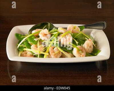 Cantonese Shrimp - Stock Image