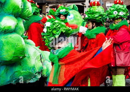 Düsseldorf, Germany. 4 March 2019. The annual Rosenmontag (Rose Monday or Shrove Monday) carnival parade takes place in Düsseldorf. - Stock Image